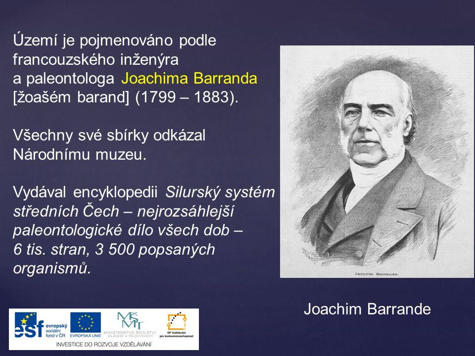 Území je pojmenováno podle francouzského inženýra a paleontologa Joachima Barranda [žoašém barand] (1799 – 1883).